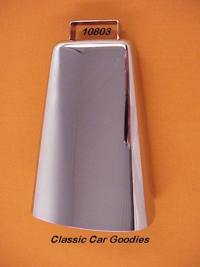 """Cow Bell Chrome 6 3/4"""" 4X4 Truck Off Road Novelty"""