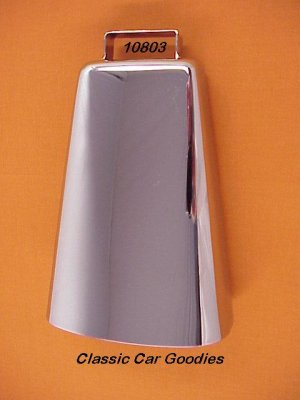 "Cow Bell Chrome 6 3/4"" 4X4 Truck Off Road Novelty"