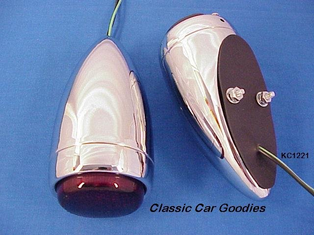 1939 Chevy Tail Light Ass'y Chrome New Pair! Street Rod