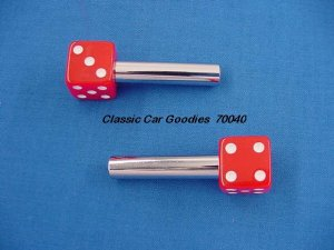 "Door Lock Knobs ""Red Dice"""