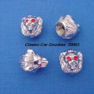 "Tire Valve Caps ""Chrome Lion Heads"""