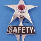Safety Star License Plate Ornament Chrome Lighted Nice!