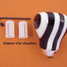 "Shift Knob ""9 Layer Twist Black and White"""