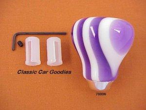 "Shift Knob ""9 Layer Twist Purple and White"""