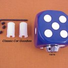 "Shift Knob ""Blue Dice"" Rock n Roll Craps Gambler"