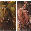 Gun Fighters of the Old West lot of 4 post cards