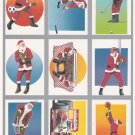 1991 Tuff Stuff Sporting Santa Claus uncut 9 card set