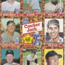 1982 Cracker Jack All Time Baseball Greats 16 Cards uncut sheets