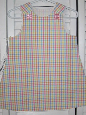 6-9 Months Multi-Color Check Seersucker Dress