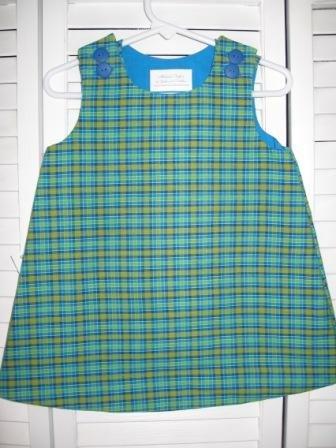 12-18 Months Multi-Color Plaid Dress