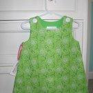 12-18 Months Green & White Seersucker Dress