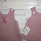 0-3 Months Infant Check Batiste Dress