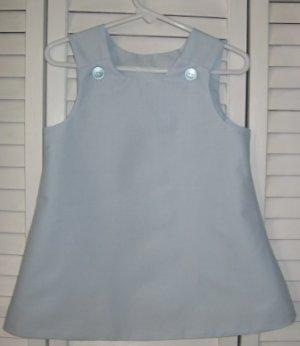18-24 Months Baby Blue Batiste Dress