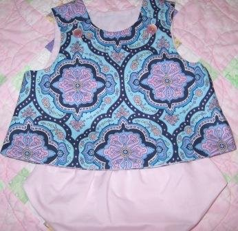 0-3 Months Infant Top with Bloomers