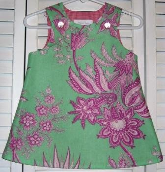 3-6 Months Pink and Green Floral Pink Lined