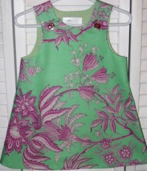 6-9 Months Pink and Green Floral Dress