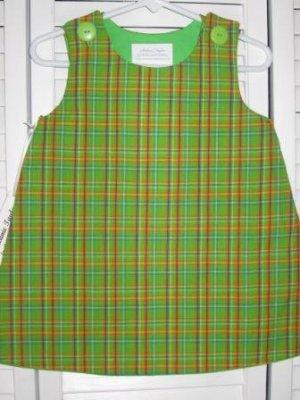 12-18 Months Green Plaid Dress
