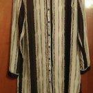 Women's Fun and Flirt size M Black and white asymetrical stripped blouse