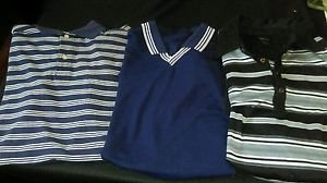 Set of three men's polo style casual shirts size large