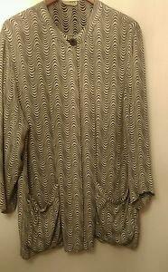 Women's designer zebra print dress shirt/blazer size XL