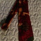 Men's Private Stock Bloomingdales silk geometric red and gold dress tie