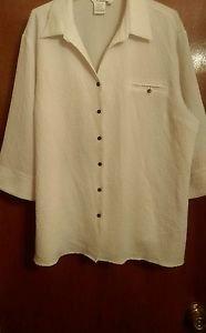 Women's COMO white stretch 3 X 3/4 length sleeve white Jacket blazer