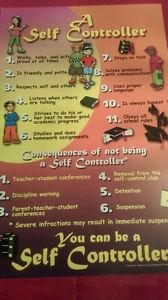 A self controller educational poster 11 x17