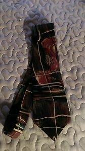Mens Pierre Cardin silk dress tie multiple color geometric design