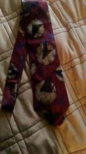 Men's Perry Ellis Portfolio silk geometric design dress tie