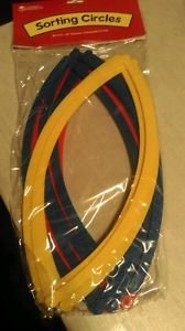 Learning Resources Desktop Sorting Circles, 20 inch Diameter, Primary Colors,...