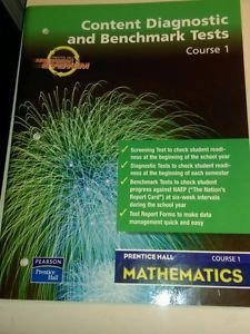 Prentice Hall Math Content Diagnostic and Benchmark Tests Course 1