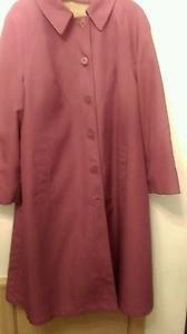 Womens Misty Harbor Trench/Overcoat Mauve sz 16 P