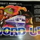 African American inventor poster Granville T. Woods invention Railway Telegraphy