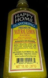 Happy Homes premium lemon extract 7oz