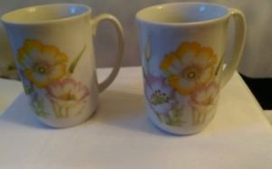 Set of 2 vintage Toscany fine china coffee/tea cups