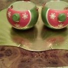 Set of two Royal Norfolk Christmas candy/snack/dip bowls