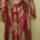 Womens Isabella Rodriquez cow neck multi color blouse size M