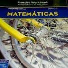 Prentice Hall Mathematics Course 2 : Spanish Practice Workbook