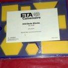 Teaching Resource:set 60 plastic attribute blocks-blue case-ETA Cuisenaire-fun
