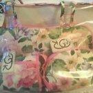 Oscar De La Renta 4pc Makeup Cosmetic Toiletry Bag Travel Set Carry All Organize