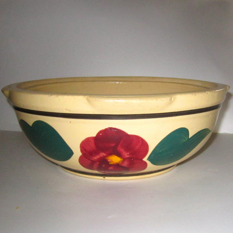 Watt Ovenware Pottery R F 8 Spaghetti Bowl Rio Rose