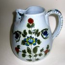 G Nikolaou pottery Ewer Greek hand painted folk art pitcher