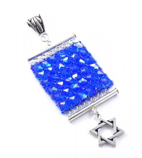 Star of David Pendant Necklace Magen Judaica Hebrew Hanukkah Gift Swarovski Crystal Art Jewelry