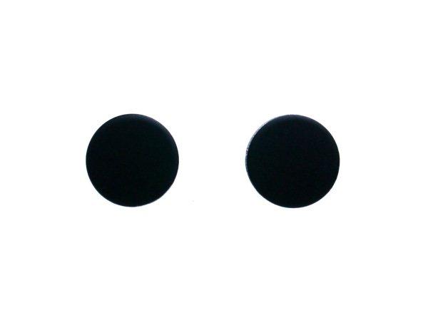 flat black earrings for men - photo #19