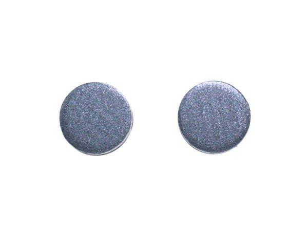 Unique Flat Disc Earrings for Men Women Teens Lightweight Aluminum Studs Cool Earrings for Men 8mm