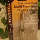NEW STAINLESS STEEL MULTI-FUNCTION POCKET KNIFE SWISS SCISSOR/SCREWDRIVER ARMY !