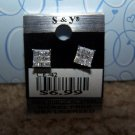 Sparkling Square Earring  New 100% Surgical Steel CE42