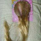 NEW GIFT girls PRINCESS dress up LONG BLONDE HAIR EXTENSIONS HIGHLIGHTS PIECE !