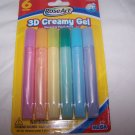 3D Creamy Gel Washable Paint Pens 6 Pieces Rose Art Homeschool Classroom Teacher