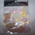 Scrapbooking Embellishments Stickers Accents Kit Ink Pads New Baby Girl/Boy